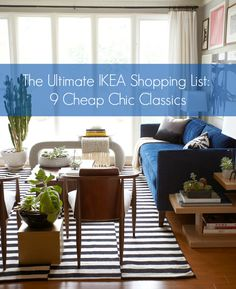 Also, good remind for the link: The Ultimate IKEA Shopping List: 9 Cheap, Chic Classics. Finally, the specific product - Ikea Stockholm Rug is pretty great. Design Living Room, My Living Room, Home And Living, Living Spaces, Modern Living, Living Area, Small Living, Home Theather, Interior Exterior
