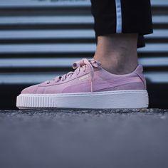 Puma - Platform mono satin soft pink Harper Store - Clothing & Sneakers. Puma Platform, Boutique, Vans, Satin, Sneakers Women, Store, Delivery, Outfit, Clothing