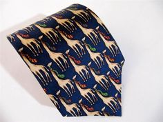 Brooks Brothers Makers Neck Tie Silk Giraffes with Scarfs on their Necks Made US #BrooksBrothersMakers $23.50 JustLuvTreasures.com