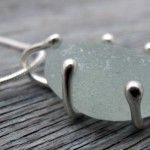 Sea glass jewellery design - not wire wrapped!