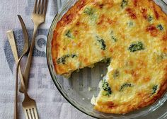 Ingredients 1 10-12oz package broccoli florets fresh or frozen, chopped 1/2 medium sized onion thinly sliced 4 large egg whites 2 large eggs 1/2 cup 2% milk 1 tbsp light butter 1 garlic clove minced 3/4 cup reduced fat sharp cheddar cheese shredded 1/4 cup whole wheat flour 1 tsp baking powder Salt & Pepper …