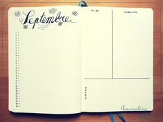 bullet journal page mensuelle monthly layout spread bujo