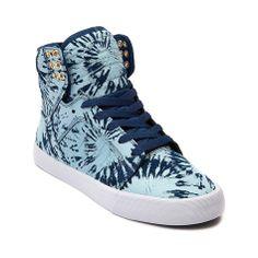 Womens Supra Skytop Skate Shoe, Navy Blue Wash | Journeys Shoes