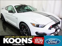 eBay: 2018 Ford Mustang Shelby GT350R 2018 Shelby GT350R GT350 R, White w/ Blue Stripes, R-Electronics Package #fordmustang #ford