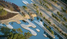 Designed in collaboration with Paul Thompson, Perry Lethlean's Australian garden at the Royal Botanic Gardens in Cranbourne, Australia, allows visitors to explore the country's indigenous plant species