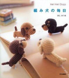 Items similar to Crochet Amigurumi Patterns - Ami Ami Dogs Mitsuki Hoshi, Japanese Crochet Pattern Book for Kawaii Amigurumi Doll, Easy Tutorial, on Etsy Japanese Crochet Patterns, Crochet Patterns Amigurumi, Amigurumi Doll, Crocheting Patterns, Cute Crochet, Crochet Crafts, Crochet Projects, Easy Crochet, Dog Crochet