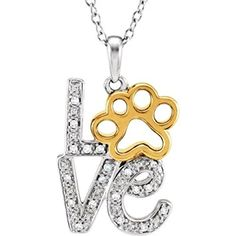"Tender Voices .05 ct tw Diamond Love Animal Paw Print 18""... https://www.amazon.com/dp/B00BOAGSSS/ref=cm_sw_r_pi_dp_x_whpSybK7X12XT"