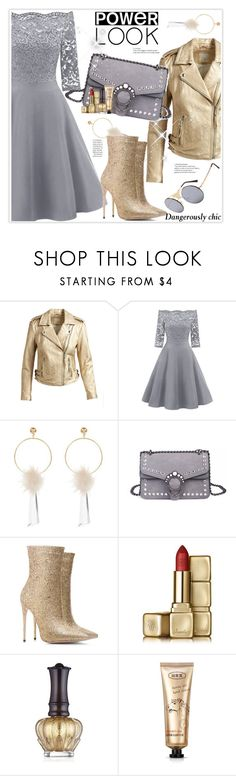 """Power Look"" by stranjakivana ❤ liked on Polyvore featuring Joie, Guerlain, Anna Sui, vintage, girlpower and powerlook"