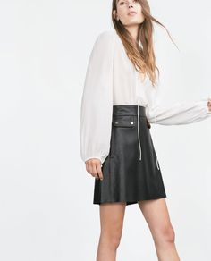 Image 3 of BLOUSE WITH YOKE from Zara