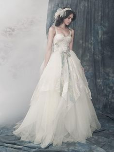 Exquisite fairy tale wedding dress, with layers of silk organza (via Alena Goretskaya Wedding Dresses | YesBride Blog)