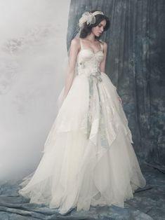 Exquisite fairy tale wedding dress, with layers of silk organza (via Alena Goretskaya Wedding Dresses   YesBride Blog)
