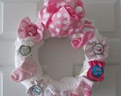 Baby Shower Wreath for a Girl