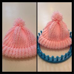 Make a baby hat out of a knitting loom :) So easy and worth it!!!!!!