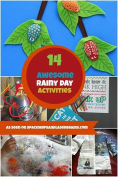 Kids Party Activities Rainy Day Ideas The stormtrooper mask is so awesome! Rainy Day Activities For Kids, Spring Activities, Party Activities, Weather Activities, Children Activities, Kindergarten Activities, Educational Activities, Easy Crafts For Kids, Toddler Crafts