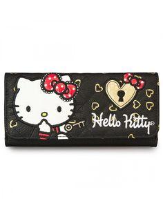 """Hello Kitty Lock & Key"" Wallet by Loungefly (Black) #InkedShop #wallet #HelloKitty #style #fashion"