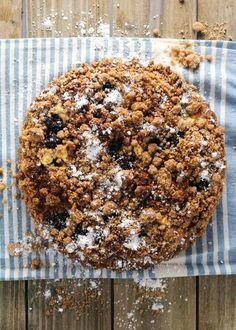 Blackberry Goat Cheese Crumble Cake
