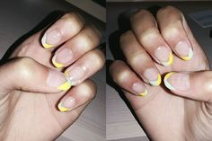 #nails #nailstagram #nailart #nailpolish #blueandyellow