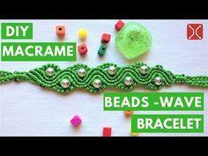 DIY Macrame Bracelet tutorial  - The Beads wave -  By tita knitting handmade - YouTube