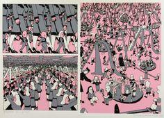 Pushwagner - En dag i familien Manns liv: nr 19 - Frihet James Rosenquist, Claes Oldenburg, Jasper Johns, Roy Lichtenstein, Modern Art Paintings, Hare Krishna, Art Pop, Andy Warhol, Storyboard