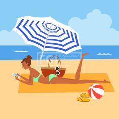 SILL227, 프리진, 일러스트, 여행, 사람, 여름, 바캉스, 라이프스타일, 라이프, 생활, 벡터, 에프지아이, 캐릭터, 심플, 바다, 해변, 모래, 수영복, 비키니, 누워있는, 여자, 전신, 1인, 파라솔, 가방, 선글라스, 안경, 스마트폰, 모바일, 핸드폰, 전화, 슬리퍼, 비치볼, 파도, 물보라, 하늘, 구름, 웃음, 미소, 수건, 일러스트, illust, illustration #유토이미지 #프리진 #utoimage #freegine 20012977