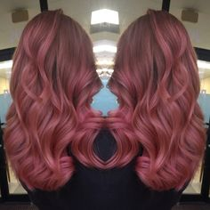 I got to create this color last night on my long time friend!  #rosegold #rosegoldhair #pinkhair