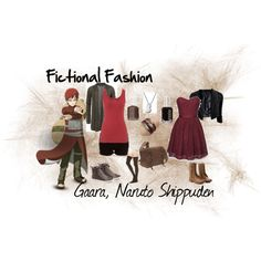 Gaara, Naruto Shippuden by fictional-fashion on Polyvore