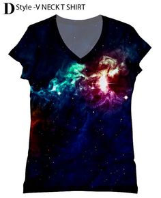 Hey, I found this really awesome Etsy listing at https://www.etsy.com/listing/130174623/woman-galaxy-print-top-t-shirt-and