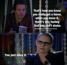Neal and Emma. Emma misses Neal; therefore, Neal is her home.