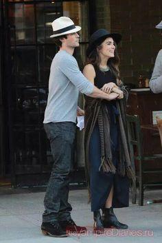 Nikki and Ian Somerhalder enjoying NYC