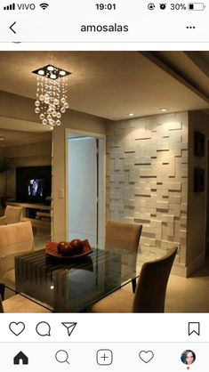 home and decoration Home Living, Living Room Decor, Dining Room, Dining Area, Wallpaper Accent Wall Bathroom, Plafond Design, Interior Design Boards, Interior Paint, Decoration Inspiration