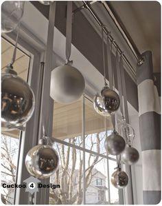 Christmas ball window decoration