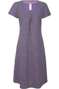 Water Print Scoop Neck Dress Purple/Heather