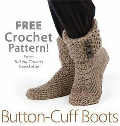 Button cuff boots. Free pattern