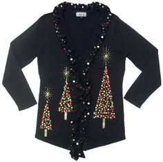 Amazon.com: Bubble Trees- Christmas Tree Cardigan Sweater: Clothing