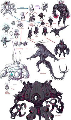 Evolution Chart v3 by ShwigityShwonShwei.deviantart.com on @DeviantArt