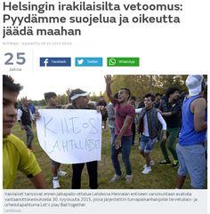 Irakilaismatut haluavat jäädä suomalaisten eläteiksi.