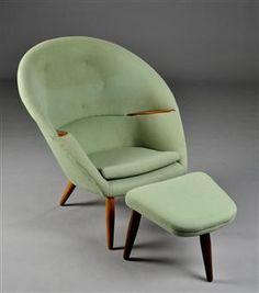 Nanna & Jørgen Ditzel. Lounge chair with footstool (2)