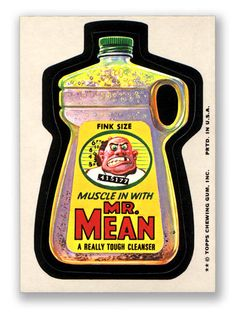 Topps Wacky Packages  12th Series 1975 MR. MEAN