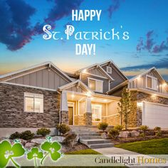 Happy St. Patrick's Day from Candlelight Homes! #stpattys #stpatricksday #candlelighthomes
