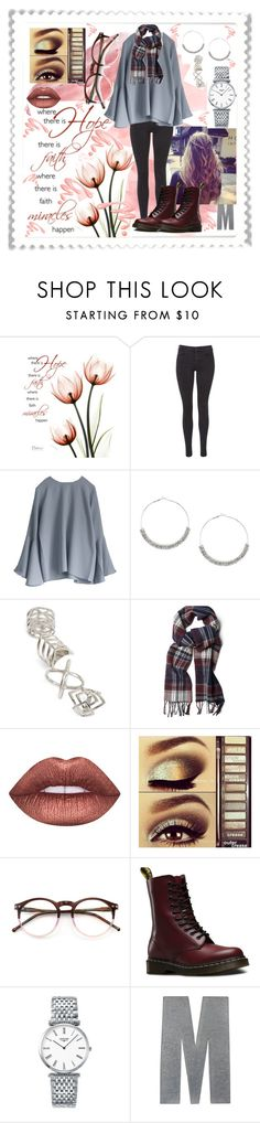 """""""Hope"""" by summer-marin ❤ liked on Polyvore featuring Maison Scotch, Topshop, GANT, Lime Crime, Urban Decay, Wildfox, Dr. Martens, Longines and Chantecaille"""
