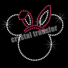 Micky Mouse Hotfix Transfers Designs Crystal Rhinestone