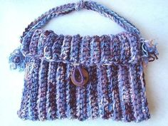 How to crochet a handbag.