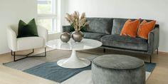 Skøyen 3,5 Seter Grønn Velour - Hugna Throw Pillows, Bed, Table, Furniture, Design, Home Decor, Toss Pillows, Decoration Home, Cushions