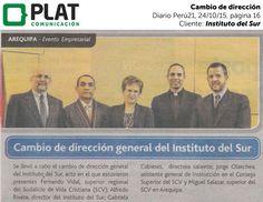 Instituto del Sur: Cambio de dirección en el diario Perú21 (24/10/15)