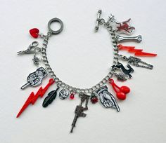 Check out this item in my Etsy shop https://www.etsy.com/uk/listing/255927155/charm-bracelet-red-and-black-charm