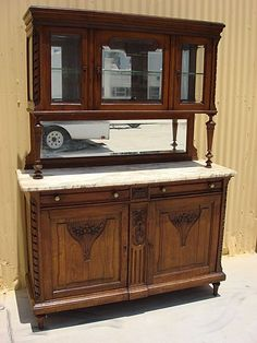 Marble Topped Hutch, French.