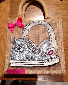 Emily-em Original Bag Designs.....Converse and Beats, all bling!