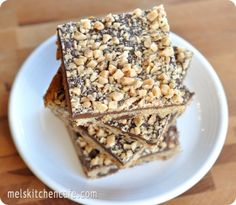 Chocolate Toffee Shortbread Bars... I think I will substitute almond &/or coconut flour.