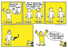 Viñeta de Leandro Barea #humor #humor grafico #viñetas #libertad de expresión