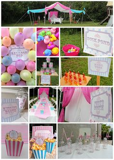 Girly Carnival Birthday Party